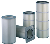 Polyester filter cartridges